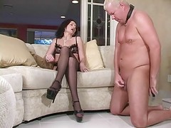 Mistress Demands Slave To Cum On Her Heels