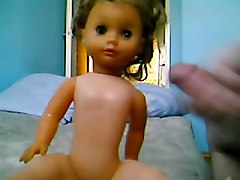 My cum on gf doll