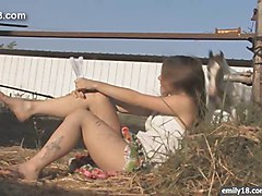 Teenage girl on the farm