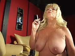 Hot Mature Blonde Ginni Smoking Blowjob