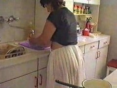 Mature Wife Cleaning The House