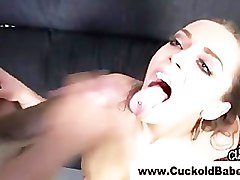 Cuckold femdom interracial ass fuck and cum cleanup