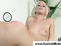 Cuckold femdom interracial big dick cock sucking