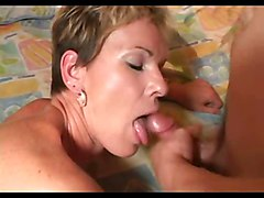 Short Hair Milf and Young Boy