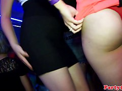 Real euro bachelorette sucks cock at club party