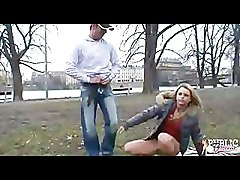 Public Blowjob with Girl in puffy jacket