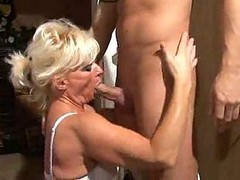 Hot Blonde German Granny Banged In Kitchen