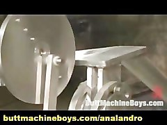 Gay with Hard Cock and Body Masturbates by Machine