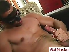 Amazing masked hunk jerking off 3 part2