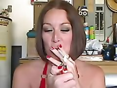 sissy training - sexy milf smoker makes you desire gay sex
