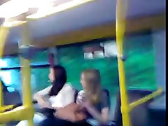 Dick Flash with CUM before 2 Girls in bus