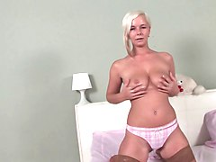 slim silver haired mature solo