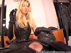 mistress anna regent - smoking in leather