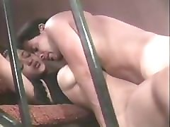 indian couple sex on a stairs