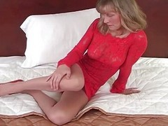 Annabel In Red Lingerie