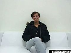 Czech Casting Busty Nikola rides the cock