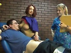 nurse and intern give max a tickle exam