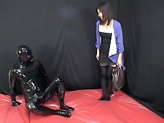 japanese latex catsuit 35