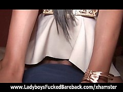 ladyboy sunny girlfriend dress creampie