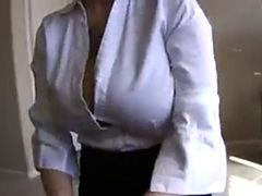 Big Tit Amateur Nerd In Office Clothes Jerk And Facial