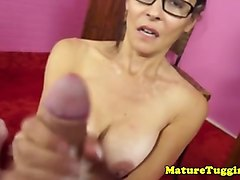 spex mature milf makes two guys blow
