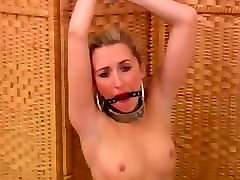 sophia smith hands bound above head and ring gagged