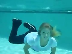 trina mason swimming with fully clothes wetlook underwater