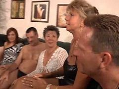 Granny Private Party  Milf Orgy
