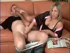 Beautiful Milf Gives Hj Nylon Feet Femdom Hot