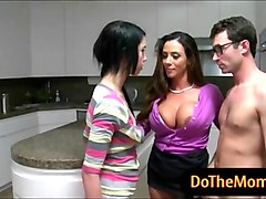 huge boobs stepmom ariella ferrera 3some sex in the kitchen