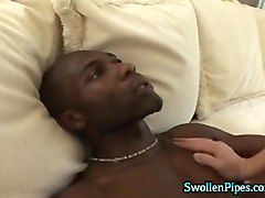sexy blonde loves black dick