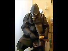 a good piss in oilskin mac and rubber boots and some cock play.
