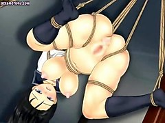 japanese chick with big tits gets fucked in 3d cartoon