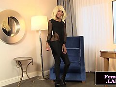 ebony femboi masturbating until cumshot