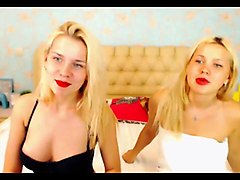 Two russian lesbians teasing and kissing