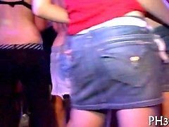 euro chicks go out to suck and fuck strippers in club