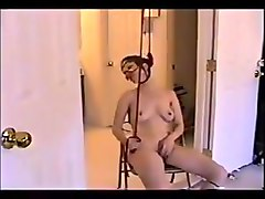 Good whore milf wife hidden cam fucking on a rope