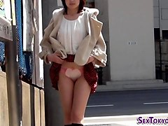 asian teens flash undies