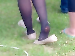 Candid Nylon Soles With Cream Flats