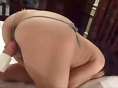 Horny japanese milf Kui Somya toying with big toy