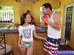 Young babe fucked by her dad's friend
