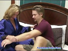 Big Boobs Stepmom Teaching Her Shy Son