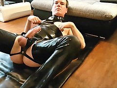 Latex rubber nipple slut pig
