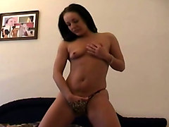 black dildo makes horny sabrina cum like rarely before