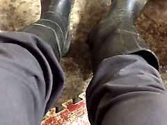 extra smelly rubber boots masturbation