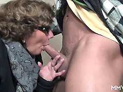 granny with big tits drilled by a younger dick