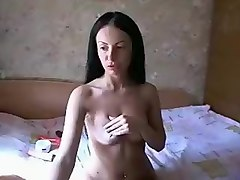 Private show with russian brunette Blackdiva