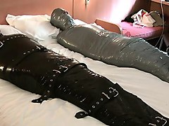covered in rubber in surrounded and duct-tape