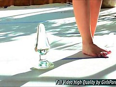alex solo mature blonde glass toy