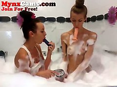these webcam temptresses like to do things together like taking a bath together